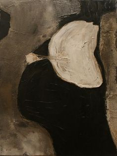 abstract painting-black white grey-acrylic pumice-Pop