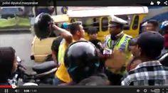 Video Pemotor Baju Kuning Getok Kepala Polisi Pake Helm | Wow Kece Badai !