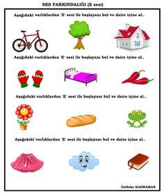 OKUL ÖNCESİ E SESİ ÇALIŞMA SAYFASI Speech Language Therapy, Speech And Language, Turkish Lessons, Turkish Language, Kids And Parenting, Montessori, Literacy, Crafts For Kids, Preschool