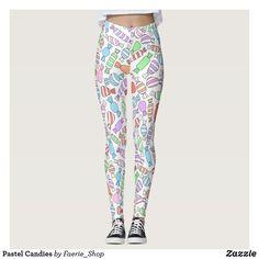 a8109af2251ba2 Pastel Candies Leggings  faerieshop  watercolor  watercolour  candy  sweets   treats