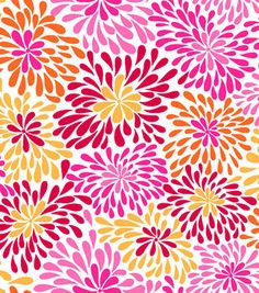 Snuggle Flannel Fabric- Red Pink Yellow Flower