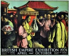 British Empire Exhibition 1924 - original vintage Scenes of Empire poster by Spencer Pryse listed on http://AntikBar.co.uk