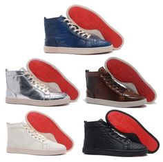 e693093a881 Genuine leather high top men red sole sneaker luxury brand  women red sole  fashion design on sale  84.99 email  xialin.zhai Hotmail.com