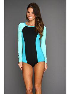 Roxy Sweet Wave Bodysuit Rashguard (long sleeves to avoid tan lines!!)