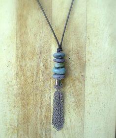 medallo / Prívesok Tassel Necklace, Tassels, Jewelry, Fashion, Jewlery, Moda, Jewels, La Mode, Tassel