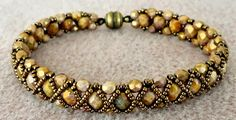 Linda's Crafty Inspirations: Bracelet of the Day: Hugs & Kisses - Smoky Topaz