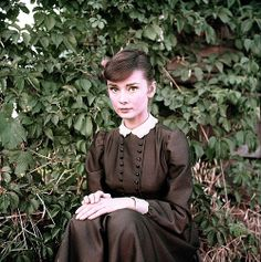 """Audrey Hepburn photographed by Milton H. Greene on the set of """"War and Peace"""" in Rome, Italy, 1955 Audrey Hepburn Born, Audrey Hepburn Photos, My Fair Lady, British Actresses, Classic Beauty, Old Hollywood, My Idol, Style Icons, Breakfast At Tiffanys"""