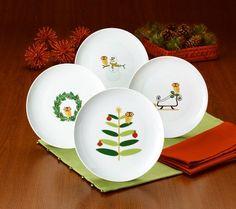 Rachael Ray Holiday Hoot Set of 4 Dessert Plates — QVC.com
