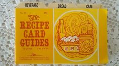 Vintage Recipe Card Guides by CrazyDeeDee on Etsy, $5.00