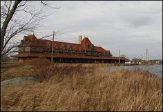 McAdam Railway Station and Hotel, complete with Pond, setting for the short story series Abigail Massey At McAdam Station Pond, Cabin, Spaces, House Styles, Water Pond, Cabins, Cottage, Wooden Houses, Garden Ponds