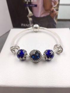 Pandora mesh bracelet snow blue bracelet