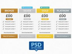 Package Selection (FREE PSD)