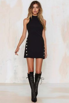 Glamorous Body Control Grommet Dress - Going Out | Body-Con | LBD