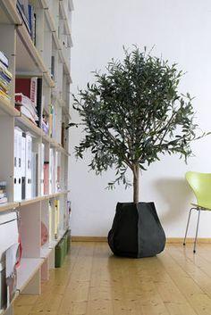 Indoor Plant POT COVER ROUND 14cm Nero Decorativo