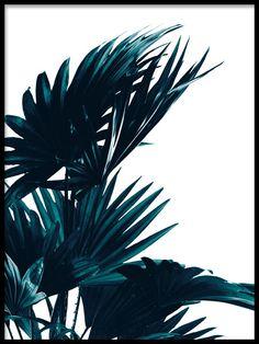 Poster with botanical motif