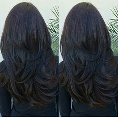 Charming 50 Hair colors and Hairstyles ideas - Hair Cut Haircuts For Long Hair With Layers, Long Layered Haircuts, Long Hair Cuts, Straight Hairstyles, Hair Styles Long Layers, Long Hair Short Layers, Layered Black Hairstyles, Long Hair Layer Cut, Layers For Thick Hair