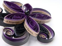 Edgar Allan Poe The Raven Gothic Flower Hair Clip--- thinkin of making a bouquet with these..... and buttonholes