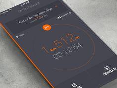 iOS7 running... | Designer: Stoyen Daskaloff