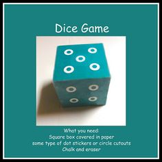 Dice Game- music time idea.  Makes learning new songs so much more enjoyable for the kids.