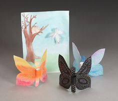 Spring Kids Craft DIY: Butterfly Finger Puppets Craft from Crayola. Summer Crafts, Diy Crafts For Kids, Art For Kids, Arts And Crafts, Craft Ideas, Preschool Ideas, Butterfly Crafts, Butterfly Wings, Drawing Utensils