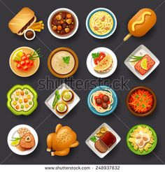 Dishes icon vector image on VectorStock Western Food, Food Icons, Food Illustrations, Illustration Art, Food Design, Tasty Dishes, Icon Set, Game Icon, Food Art