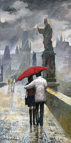 Prague Charles Bridge Love Story