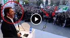 Renzi smascherato!Ecco come funzionano i suoi comizi.Un'assurda messa in scena.IL VIDEO