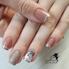 30 Super Nail Art Ideas for Short Nails 2019 Fancy Nails, Diy Nails, Pretty Nails, Gold Nails, Spring Nail Art, Spring Nails, Super Nails, Beautiful Nail Art, Nail Stamping