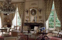 #salon #dixhuitième #château de #vanssay #Sarthe #chateaudhotes