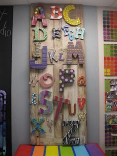 Wooden Letters. I like the patterns