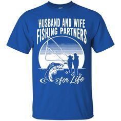 Family T-shirts Husband And Wife Fishing Partners For Life Shirts Hoodies Sweatshirts
