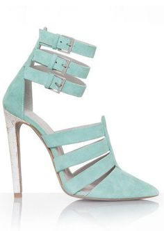 Mint Strappy Cut-Out Pumps <3 my birthday is coming guys :)) 6'12