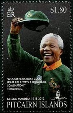 The Pitcairn Islands celebrated the life of Nelson Mandela with a set of 4 stamps released on 3 november 2014. The $1.80 stamp shows Nelson Mandela in ...
