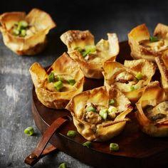 Knapperige bakjes met een zachte vulling. Recept - Filocups met geitenkaas, ricotta en champignons - Boodschappenmagazine