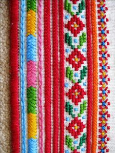 Detail of an embroidered sleeve cuff for a man's traditional Ukrainian 'sorochka', or shirt, in the style of the village of Yaseniv-Pil'nyi in the Horodenka region of Carpathian Western Ukraine (Hand embroidered by Dave Melnychuk)