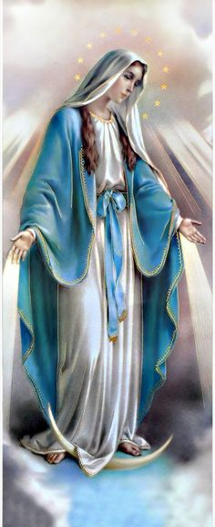 """Our Lady of Lourdes """"I am the Immaculate Conception. Jesus And Mary Pictures, Mother Mary Images, Images Of Mary, Mary And Jesus, Virgin Mary Painting, Virgin Mary Art, Blessed Virgin Mary Images, Image Jesus, Jesus Christ Images"""