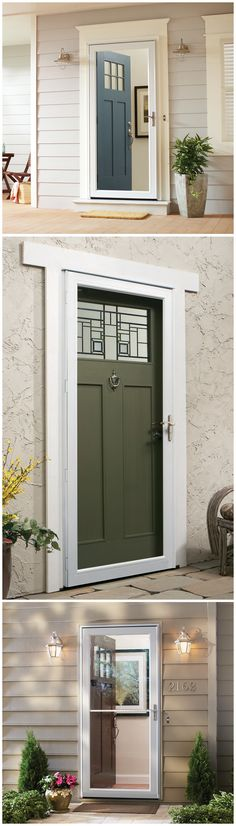 Highly-customizable Andersen storm doors let you choose from multiple colors and handle finishes to enhance the look of your home, and they can also make your home more energy efficient. Click through to see the wide selection of storm doors and all the available options at The Home Depot.