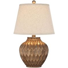 Universal Lighting and Decor Buckhead Bronze Small Urn Table Lamp (€54) ❤ liked on Polyvore featuring home, lighting, table lamps, brown, bronze table lamps, bronze lantern, bronze lighting, brown table lamps and brown lamps