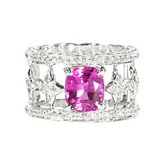 "JdJ ""Sevilla"" Pink sapphire and diamond #ring"