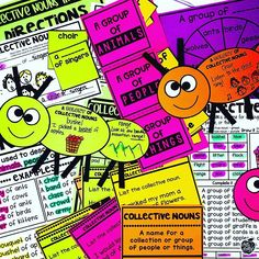 Teach students to use collective nouns with this engaging hands-on resource. This bundle includes nine days of lessons, PowerPoint presentations, anchor charts, class games with recording sheets, interactive notebook pages, task cards, a craft, FoldUpbooks, worksheets, and a quick assessment. This is a complete hands-on mini unit that will add fun and excitement to your classroom. #HollieGriffithTeaching #KidsActivities #CraftsForKids