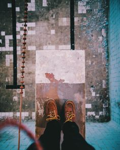 Standing on an old diving board 5m above the tiles. Urban exploring is awesome  by mrbenbrown
