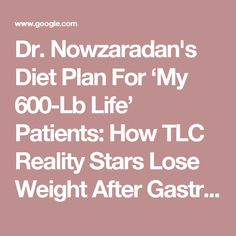 Dr Nowzaradan Diet For Pre And Post Operative Surgery Shape Up Or