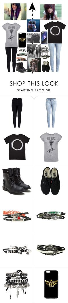 """""""Emo/scene sisters"""" by emmcg915 ❤ liked on Polyvore featuring AG Adriano Goldschmied, Object Collectors Item, Vans and ASOS"""
