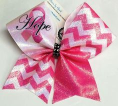 Bows by April - Hope Awareness Glitter Chevrons Cheer Bow, $14.00 (http://www.bowsbyapril.com/hope-awareness-glitter-chevrons-cheer-bow/)
