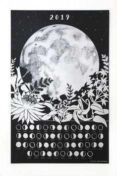 Fantastic Pic calendar poster Tips Ecstatic with regard to your FREE appointments 2019 printer as small as at this moment? Moon Calendar, Calendar 2020, Lunar Phase, Moon Magic, Moon Art, Moon Phases, Kawaii, Stars And Moon, Full Moon