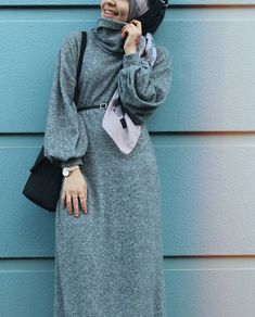 Modest Fashion Hijab, Modern Hijab Fashion, Street Hijab Fashion, Abaya Fashion, Muslim Fashion, Fashion Outfits, Hijab Outfit, Hijab Style Dress, Hijab Chic