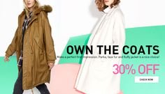 OWN THE COATS30% OFF Make a perfect first impression. Parka, faux fur and fluffy jacket is a nice choice.