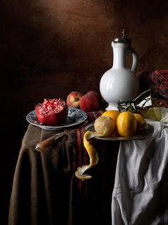 Stilleven: een verzameling van voorwerpen, tekening/foto/schilderij van voorwerpen noem je ook een stilleven
