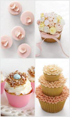 Birthday cupcake decorations: spring birthday cupcakes