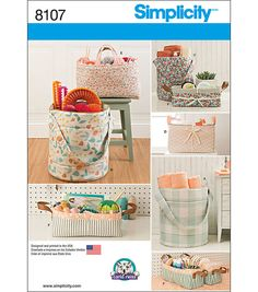 Simplicity Patterns US8107Os Home Decor-One Size